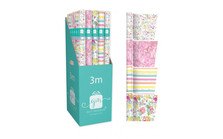 Classic Female Asstd Gift Wrap Roll 3m