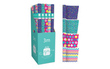 Brights Assortment Gift Wrap Roll 3m