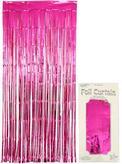 Foil Door Curtain Metallic Fuchsia