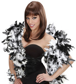 Deluxe Black & White Bicolour Feather Boa