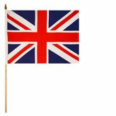 Union Jack Flag On Stick Cloth 9in X 6in