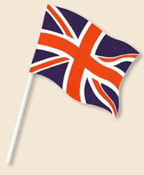 Flag 6x4 Inch Union Jack On Stick