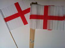 Cloth England Flag On Stick 12x18inch