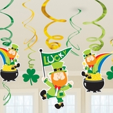 St Patricks Hanging Swirls