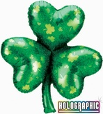 Shamrock Holographic Foil Balloon