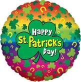St Patricks Day Rainbow Foil Balloon