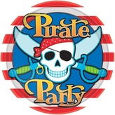 Plates Pirate Party 22.9cm Card