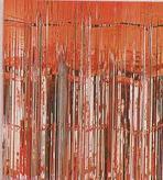 Door Curtain Metallic Red