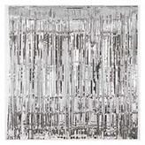 Door Curtain Metallic Silver
