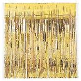 Door Curtain Metallic Gold