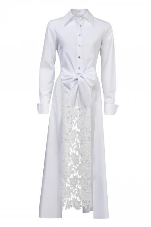 Sassi Holford Tie Front Shirt White