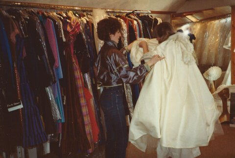 Sassi helping one of her first brides