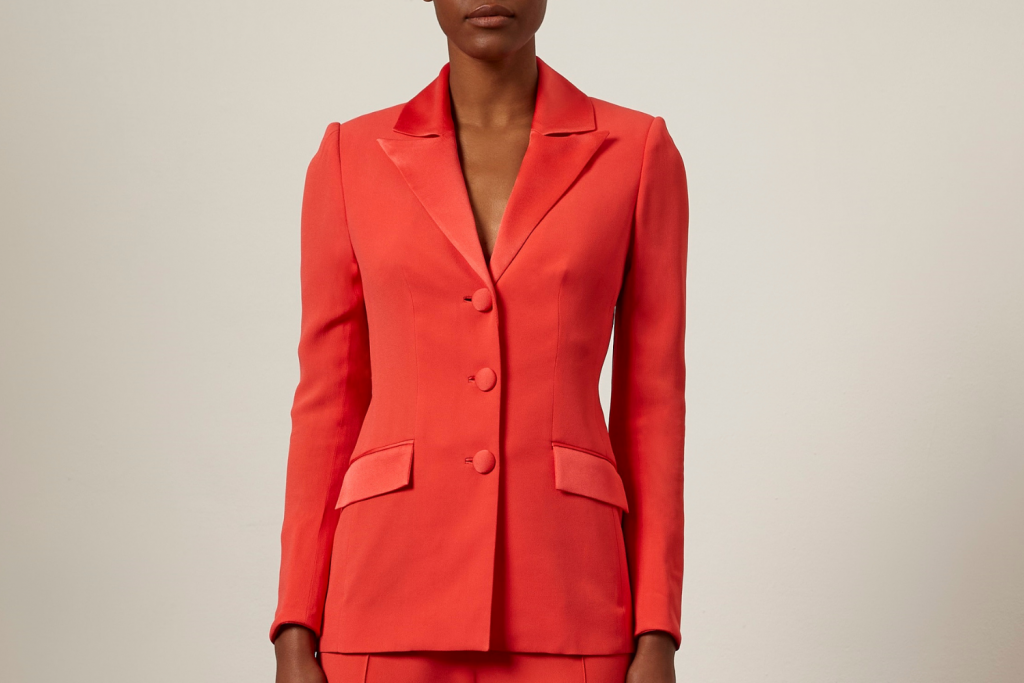 sassi holford spring fashion red blazer