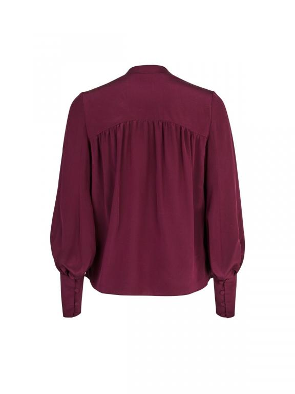Sassi Holford kew blouse in aubergine