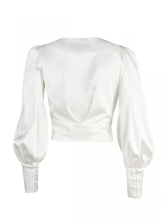 Sassi Holford Silk Wrap Blouse in ivory
