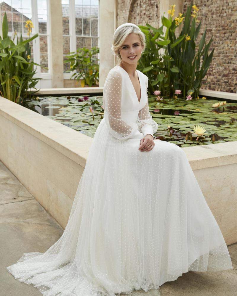 wedding gown designers - polka dots bridal dress Sassi Holford