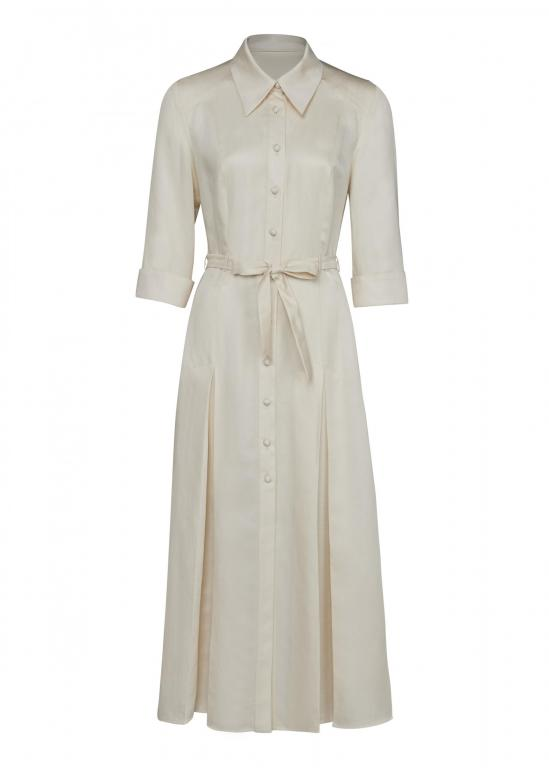Sassi Holford RTW 2021 Darlington Dress Cornish Clay (Front)
