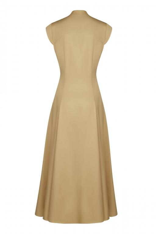 Sassi Holford RTW 2021 Winchester Dress Sand (Back)