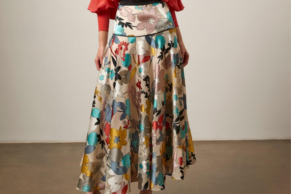 Multi coloured silk skirt Sassi Holford