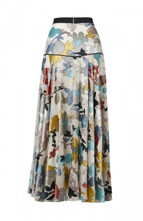 Sassi Holford Chiffon Floral Colourful Skirt