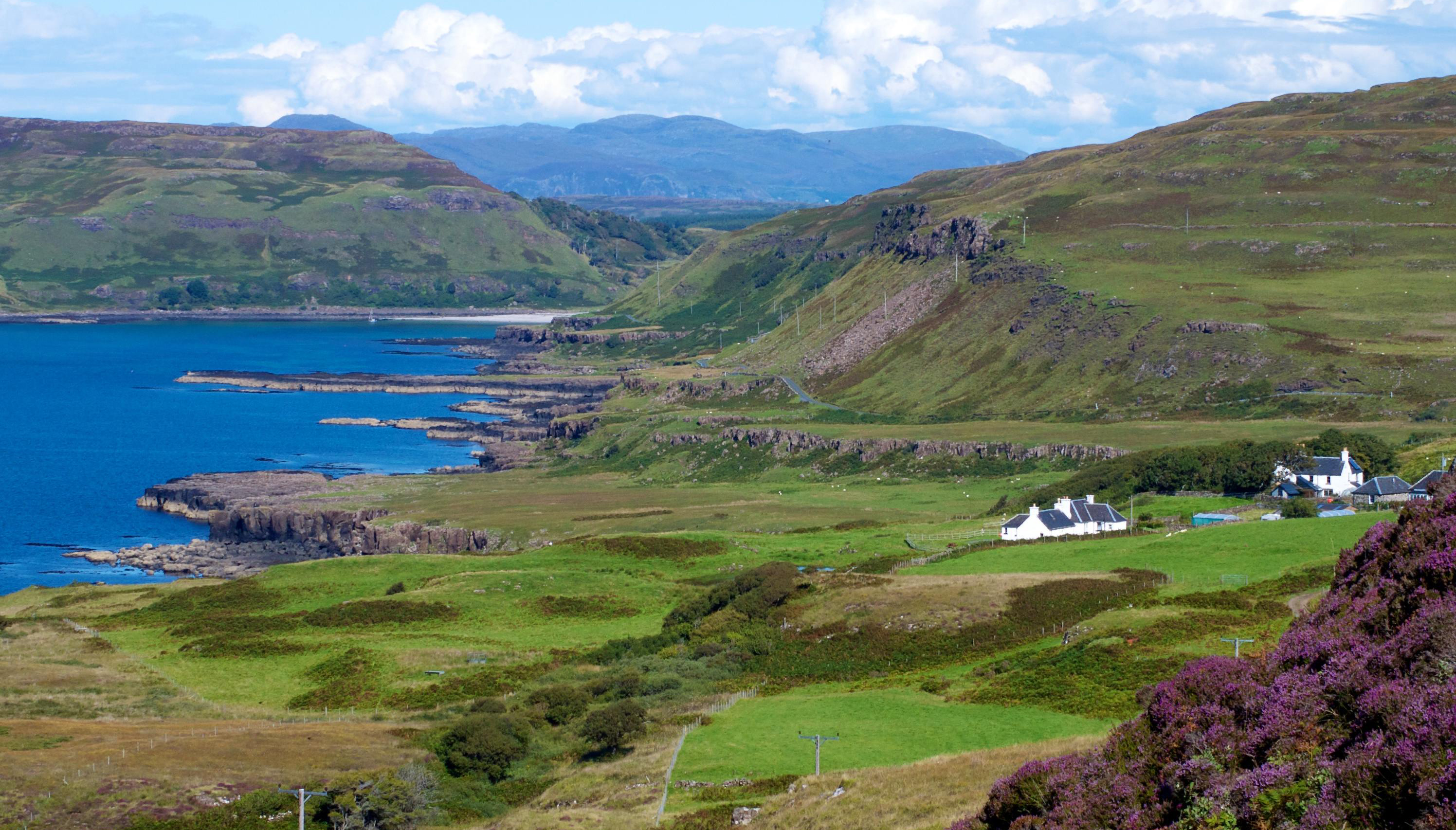 Treshnish Farm in Argyll sits alone in the heart of the Scottish countryside with the coastline just behind