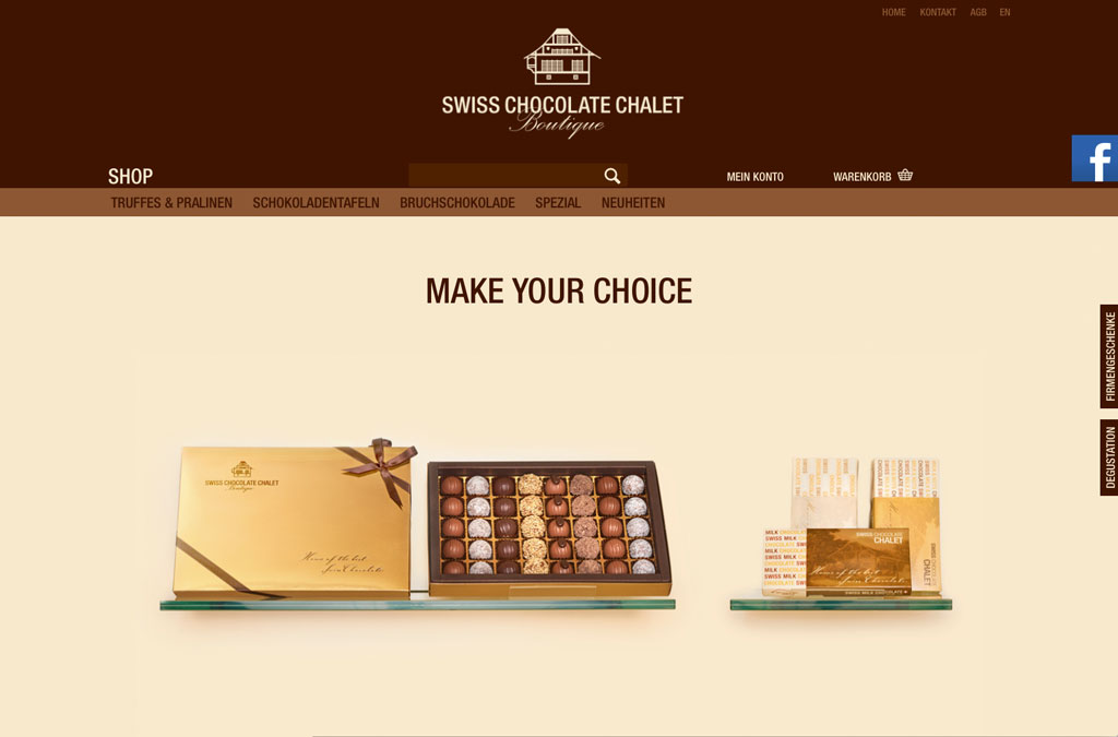 Swiss Chocolate Chalet Online-Shop