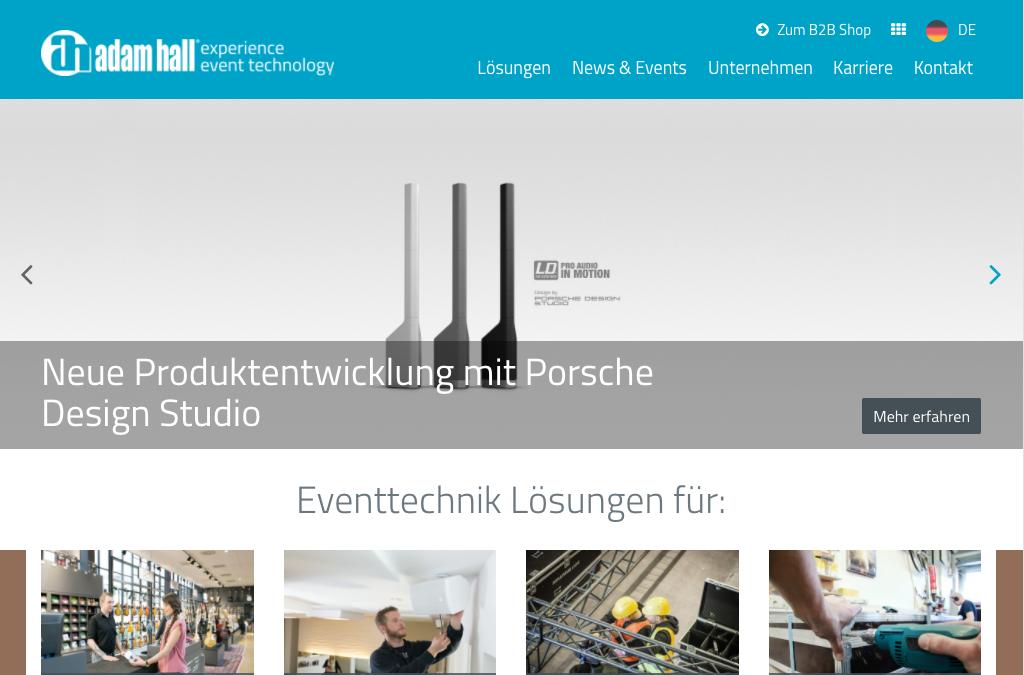 Adam Hall - Corporate Website