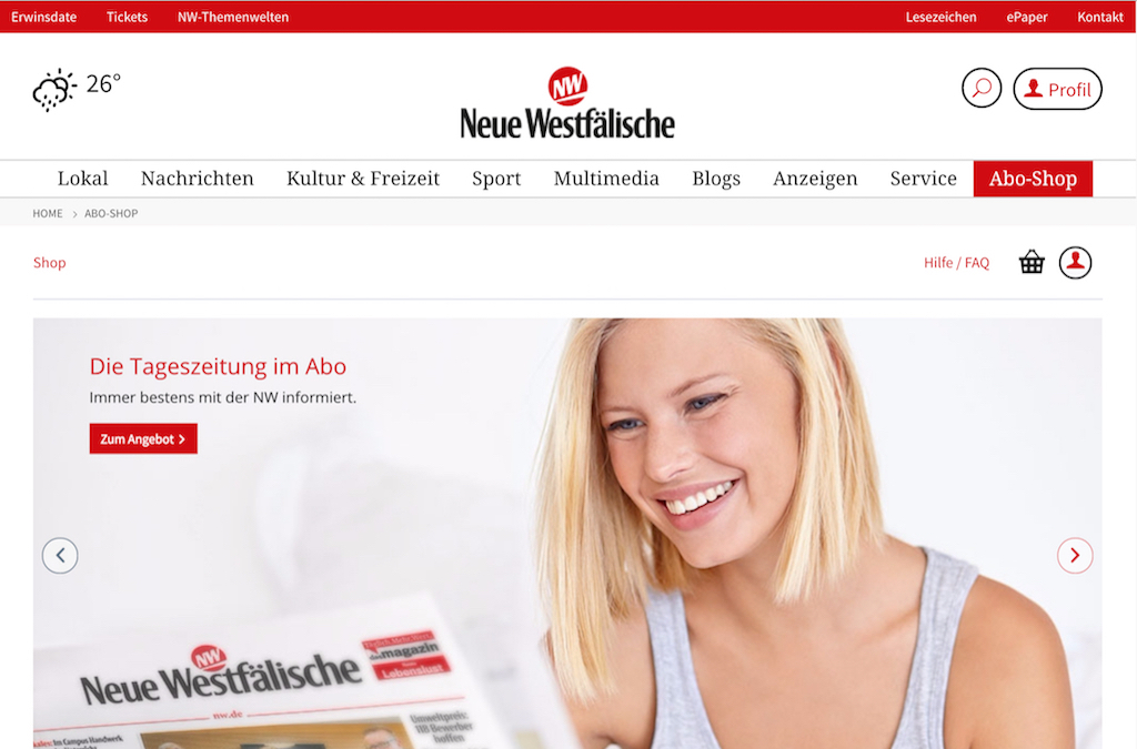 Neue Westfälische Verlag Abo Shop