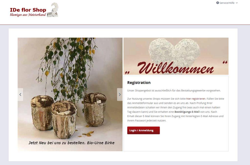 IDe Flor Online-Shop