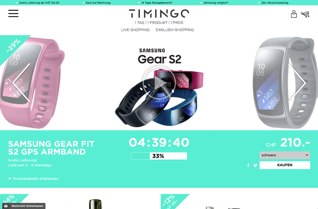 TIMINGO Live-Shopping