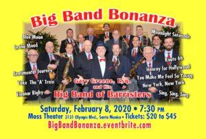 Saturday, February 8, 2020 – BIG BAND BONANZA