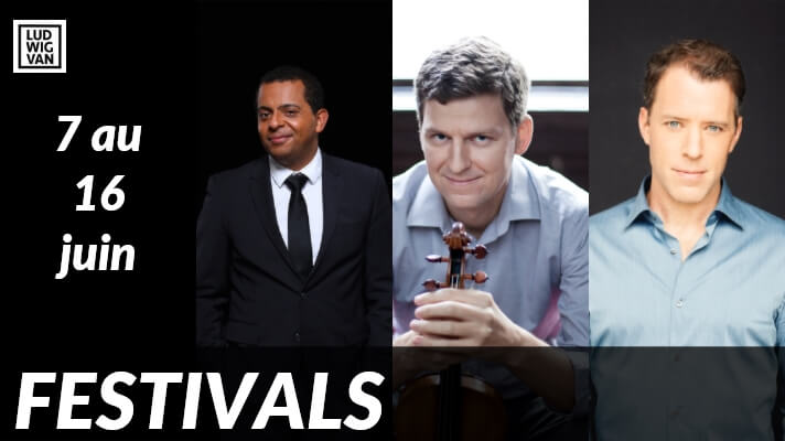 FESTIVALS 2019    Gregory Charles, James Ehnes et Joseph Kaiser au Festival de musique de chambre de Montréal