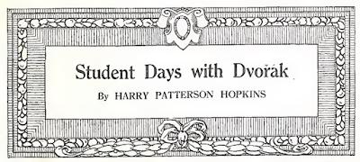 Mes études avec Dvořák, par Harry Patterson Hopkins (1912)