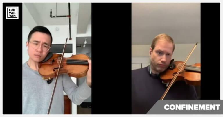 À ÉCOUTER  | Deux provinces, deux orchestres, deux violons solo: écoutez Andrew Wan et Jonathan Crow en duo virtuel