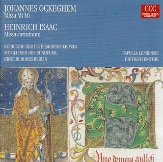 Johannes Ockeghem: Missa Mi Mi -- Heinrich Isaac: Missa carminum (Historische Aufnahmen)