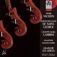 Vachon, Boulogne, Cambini: Quatuors à cordes - (Quatuor Les Adieux)