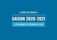 Français - Saison 2020-2021 à l'Opéra de Toulon : une saison pour tous