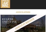 Français - Annulation d'Eugène Onéguine en octobre à l'Opéra de Lausanne