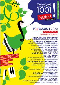 COMPTE RENDU, Festival 1001 NOTES 2020 (15 ans), les 4 et 5 août 2020