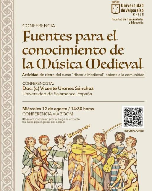 CONFERENCIA: Fuentes para el conocimiento de la Música Medieval