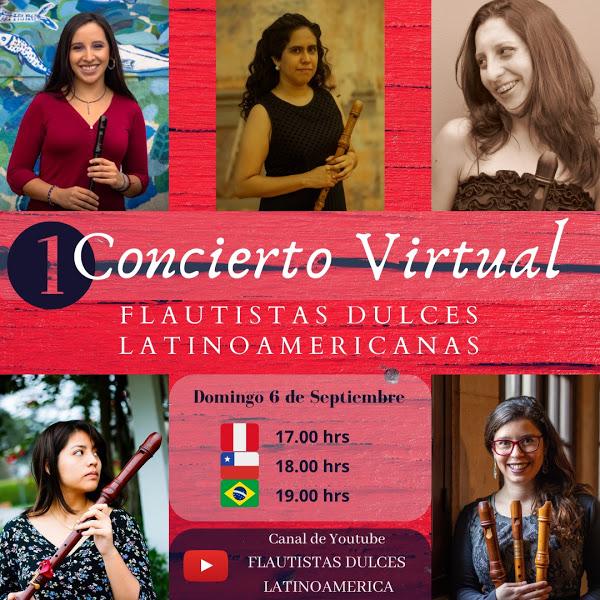 Flautistas dulces latinoamericanas se reúnen en Primer Concierto Virtual