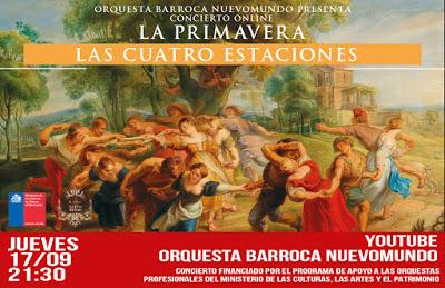 """En vísperas del Equinoccio, la NuevoMundo te invita a disfrutar del concierto On Line """"La Primavera de Vivaldi"""""""