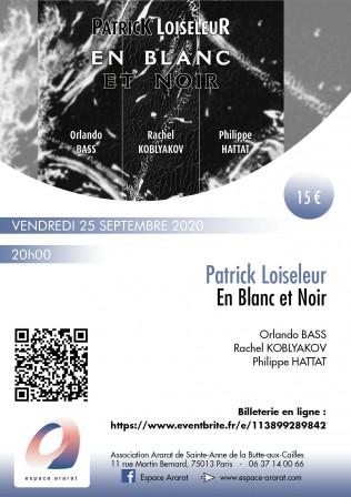 En Blanc et Noir: Concert Vendredi 25 septembre