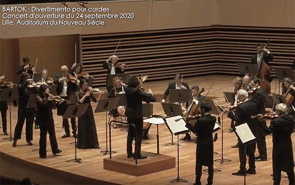 Lancement de la nouvelle saison 2020 2021 de l'ON LILLE Orchestre National de Lille. L'Orchestre à l'épreuve de la pandémie ?