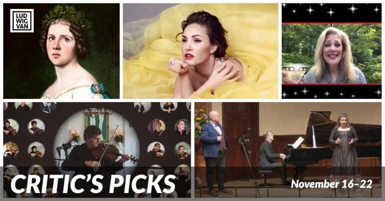 CRITIC'S PICKS | Classical And Opera Livestreams You Absolutely Need To See This Week