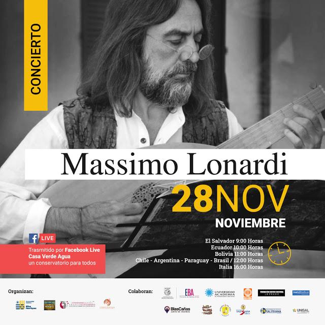Concierto Entrevista del laudista italiano Massimo Lonardi
