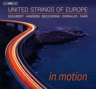 In Motion: United Strings of Europe's debut disc features three contemporary works alongside two classics in a strongly coloured programme