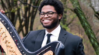 Sergio A. Mims: Ozy.com: A Black Harpist Makes Classical Music for the Moment; Charles Overton is a rising star on the Boston music scene
