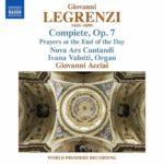 Musique sacrée de Legrenzi, un cycle d'Office du soir en premier enregistrement