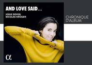 "Français - Chronique d'album : ""And love said..."", de Jodie Devos"